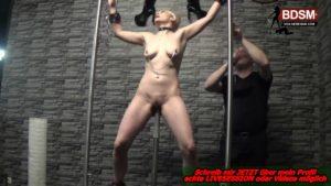 Deutsche Sex-Sklavin nackt gefesselt und benutzt
