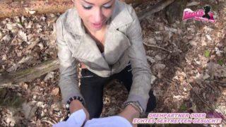 Deutsche Exfreundin im Wald gefickt und gefilmt