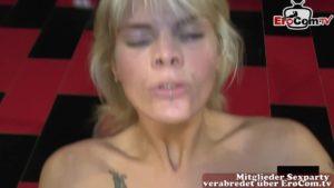 Harter Creampie Gangbang mit Blondine Stacy Lou