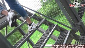 Deutsche Ebony Punkerin WowLara beim Outdoor fick