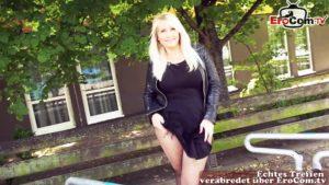 Dicke Frau angesprochen und Outdoor gefickt POV