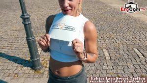 Sportliche Blondine FitXXX Sandy gedatet zum ficken