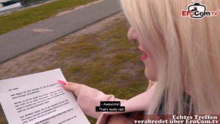 Fickdate mit Mollige Blondine Mariella Sun Brille