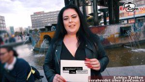 EroCom Date - Deutsche große Frau flirt auf Straße und aufgerissen